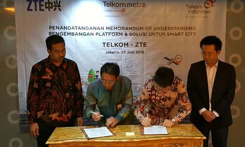 Telkom smart city nusantara akan didukung ZTE