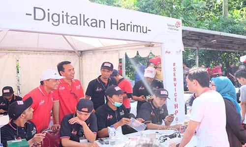 Telkom service seribu ponsel dalam sehari