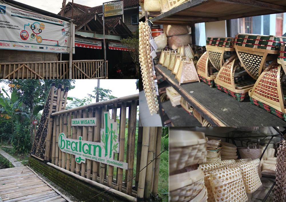 Desa wisata Brajan, kerajinan bambu yang mendunia