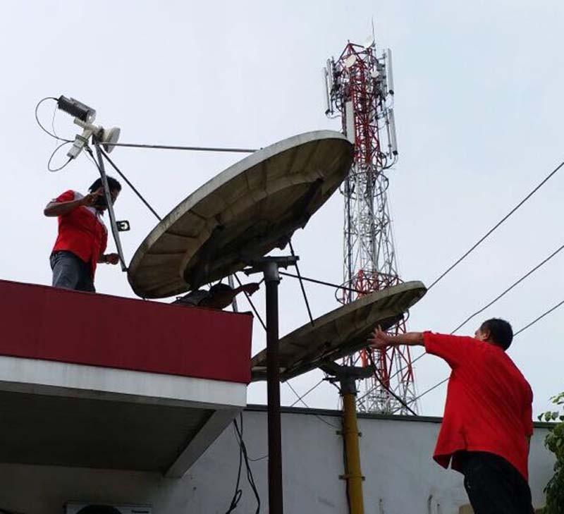 Layanan dari 54 pelanggan satelit Telkom 1 sudah dipulihkan