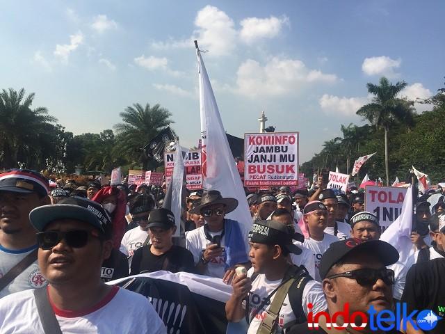 Aksi KNCI Menuntut Pencopotan Menkominfo Rudiantara