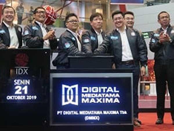 Digital Mediatama Maxima resmi melantai di bursa saham
