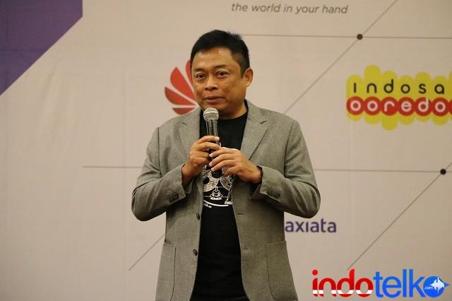 Ketua Umum Asosiasi Penyelenggara Telekomunikasi Seluruh Indonesia ATSI, Ririek Adriansyah