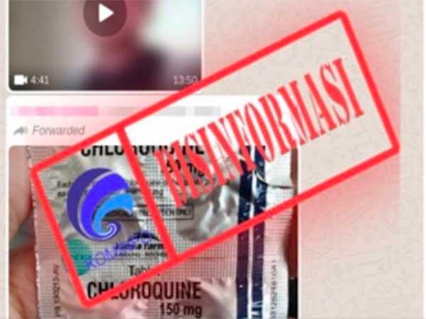 Jokowi pesan obat Covid-19, Kominfo ralat status disinformasi soal Klorokuin