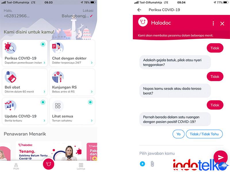Pakai Telkomsel, akses Halodoc tanpa kuota