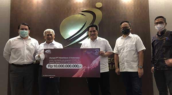 Operator 3 Indonesia donasikan Rp10 Miliar ke Yayasan BUMN Untuk Indonesia