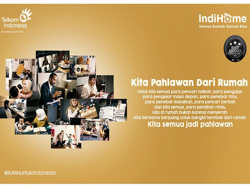 Cegah penyebaran Covid-19, IndiHome Luncurkan Kampanye #PahlawanDariRumah