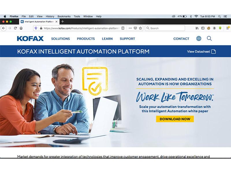 Maksimalkan kapasitas pemberi pinjaman, Kofax suguhkan platform automasi cerdas