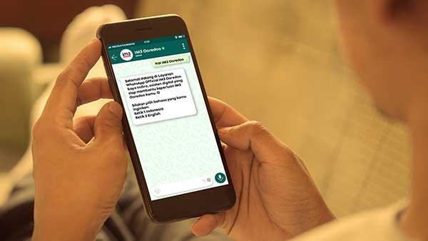 IM3 manfaatkan WhatsApp untuk tingkatkan layanan