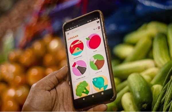 DIPASAR permudah belanja di pasar tradisional