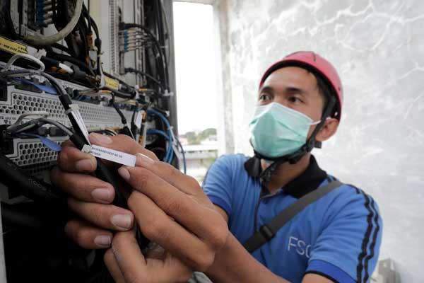 Pekerja bidang jaringan telekomunikasi siap divaksin