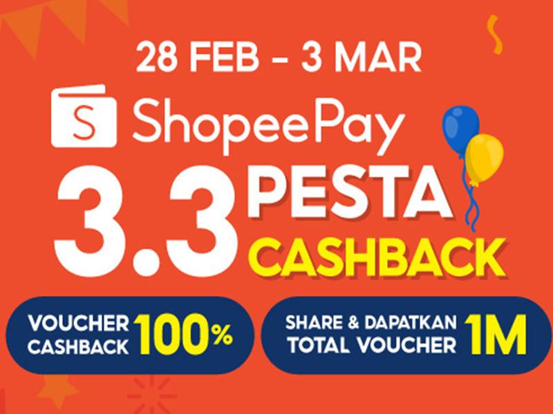 Lagi, ShopeePay tebar promo di 3.3