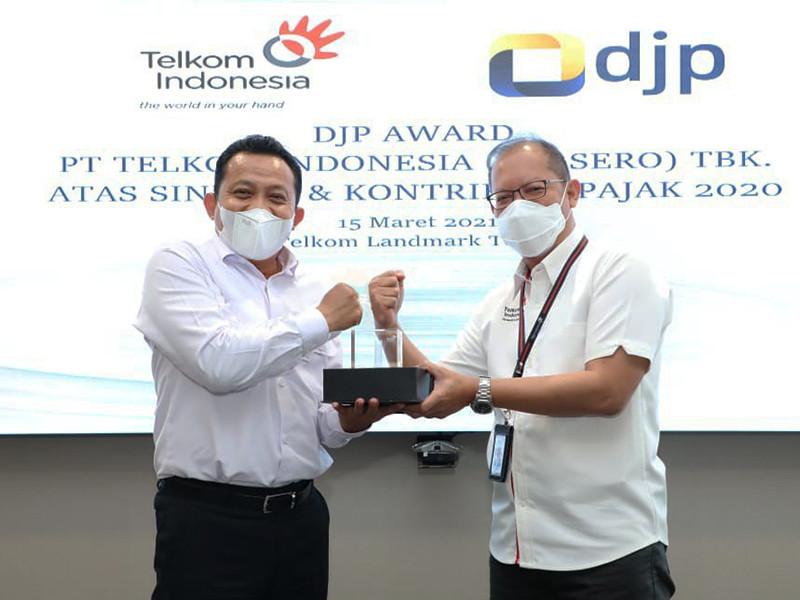 Telkom raih DJP Award, pajak tumbuh 3,24% di 2020