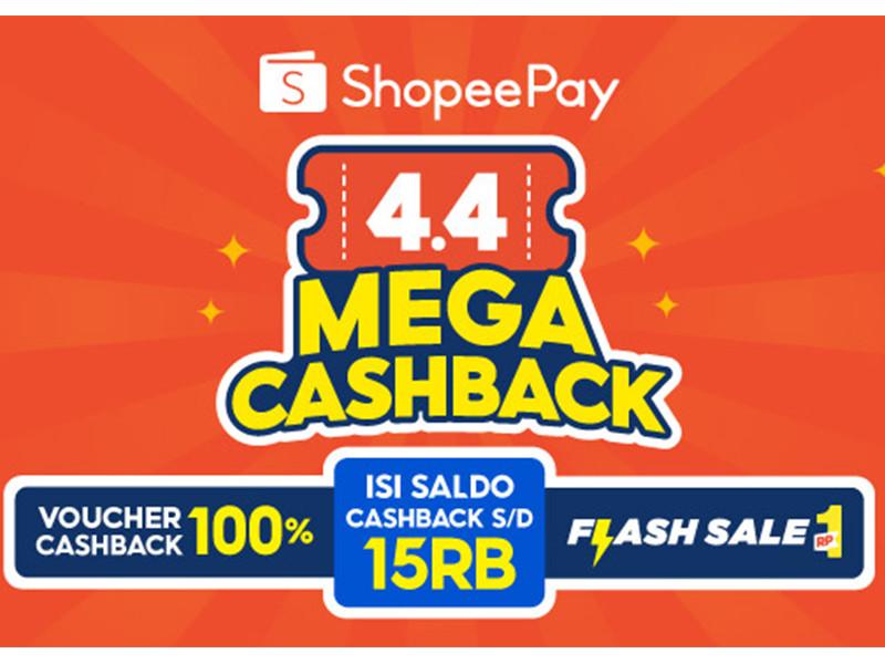 Shopeepay beri cashback 100% di berbagai merchant pada 4.4