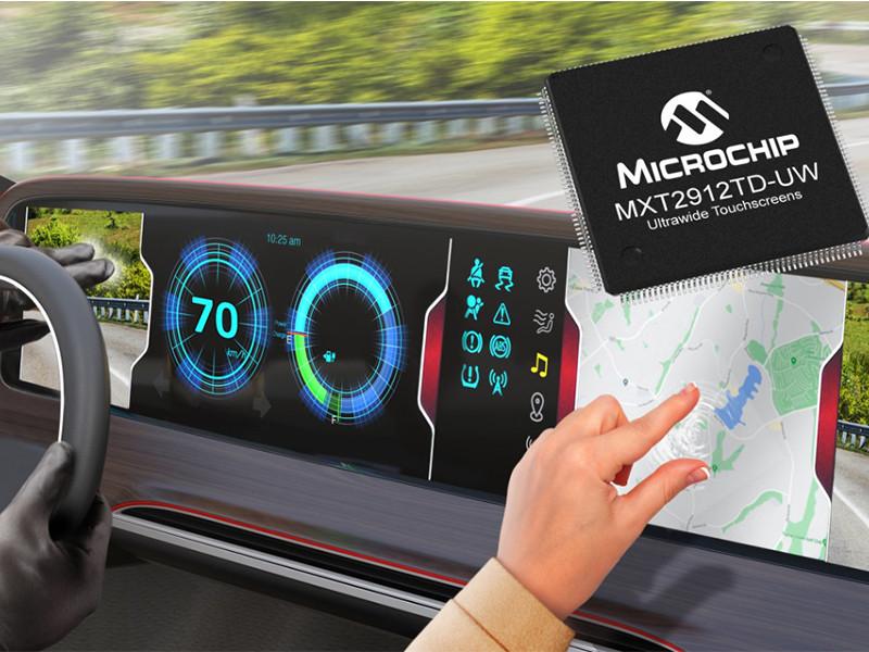 Microchip Technology umumkan kontroler layar sentuh ultrawide
