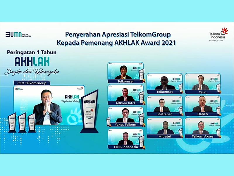 TelkomGroup Canangkan Komitmen Perkuat Implementasi Nilai AKHLAK