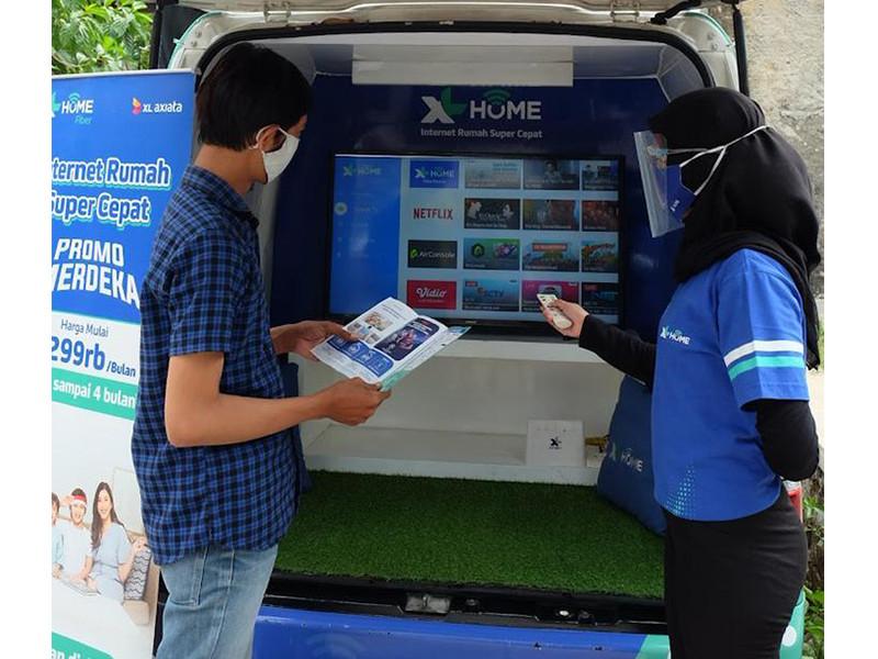 Pelanggan XL Home naik 200% di Bandung
