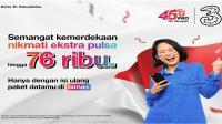 HUT RI, 3 Indonesia tebar promo