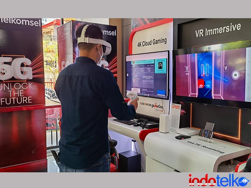 Bergelora, 5G Telkomsel di Surabaya