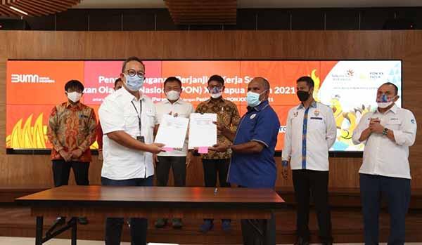 Telkom menjadi Official Platinum Telco Partner di PON XX Papua 2021