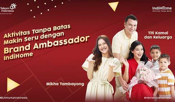 IndiHome jadikan Mikha Tambayong dan keluarga Titi Kamal sebagai brand ambassador