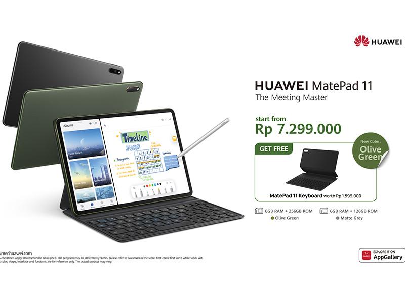 Huawei MatePad 11, ada warna Olive Green loh
