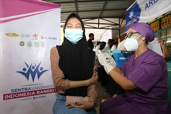 Sentra vaksinasi XL di Medan sudah suntik vaksin Covid-19 ke 12.050 warga
