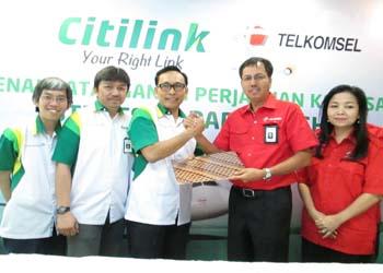 Genjot Ancillary, Citilink Gandeng Telkomsel