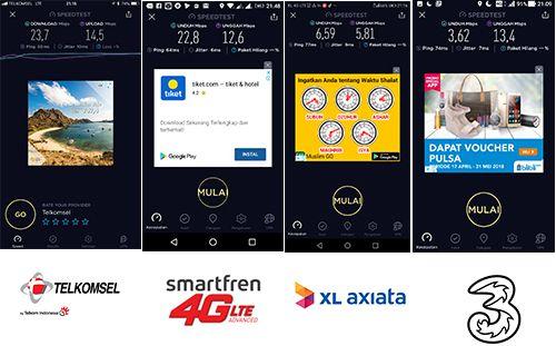 Telkomsel dan Smartfren bersaing ketat di Taman Udayana