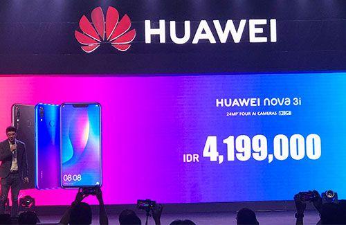 Meluncur mulus ke pasar, Huawei Nova 3i dibandrol 4 jutaan