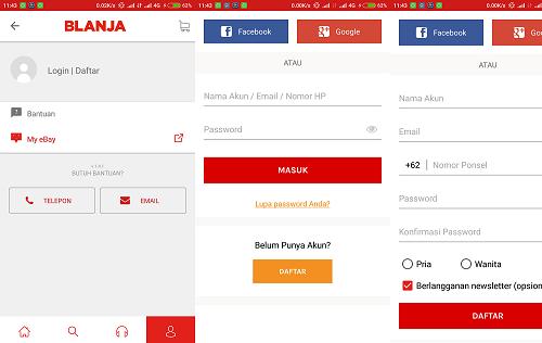 Aplikasi Blanja.com