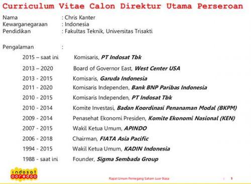 Chris Kanter kandidat terkuat Dirut Indosat