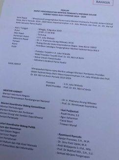 Hoaks susunan Kabinet Kerja jilid II kembali beredar, kali ini ada nama Semmy