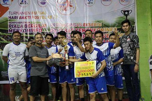 SDPPI akhiri puasa gelar di Turnamen Futsal Piala Menkominfo
