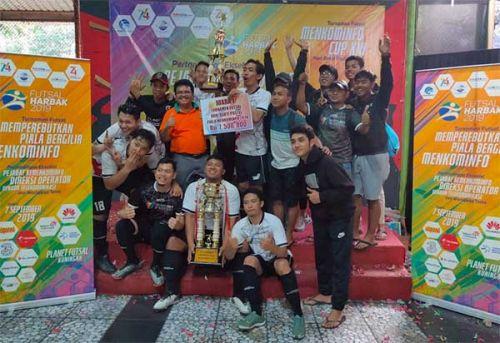 Telkom juara Turnamen Futsal Piala Bergilir Menkominfo