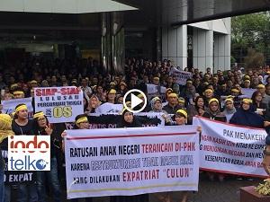 Demo karyawan Indosat tolak restrukturisasi